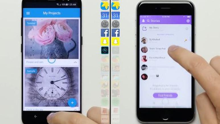Galaxy S8 ile iPhone 6s hız testinde kozlarını paylaştı