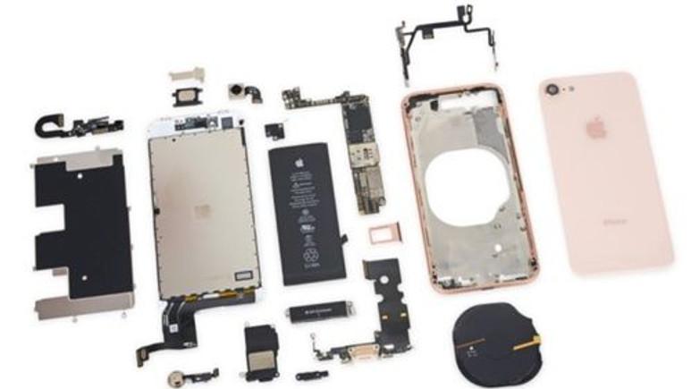 iPhone 8 parçalarına ayrıldı!