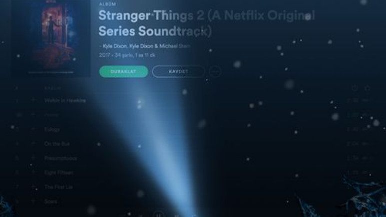 Spotify'dan Stranger Things sürprizi!