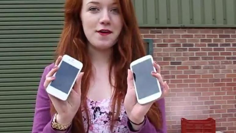iPhone 4S bombaya dönüştü! (video)