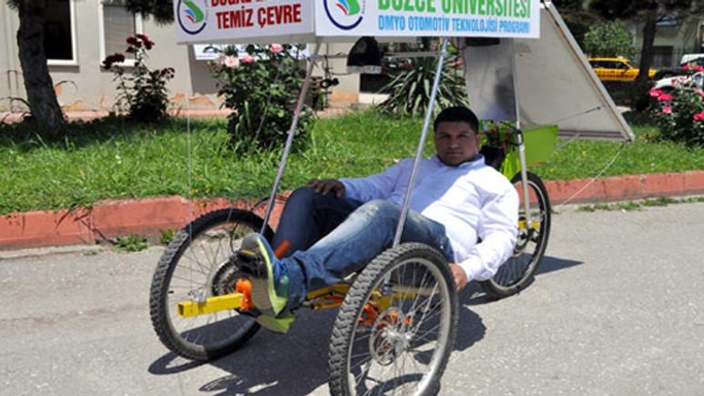 Türk gençleri güneş enerjili bisiklet icat etti!