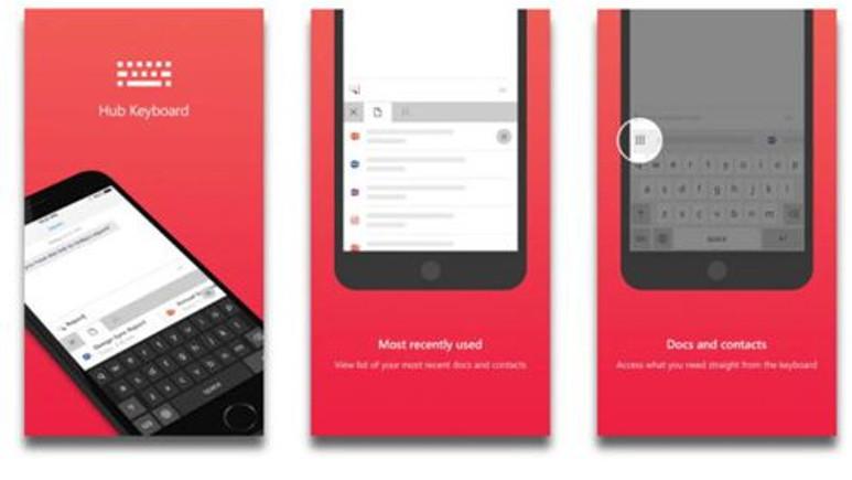 Microsoft Hub Keyboard iOS İçin Yayınlandı