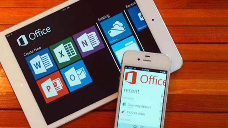 Microsoft Office iPad'de Geldi