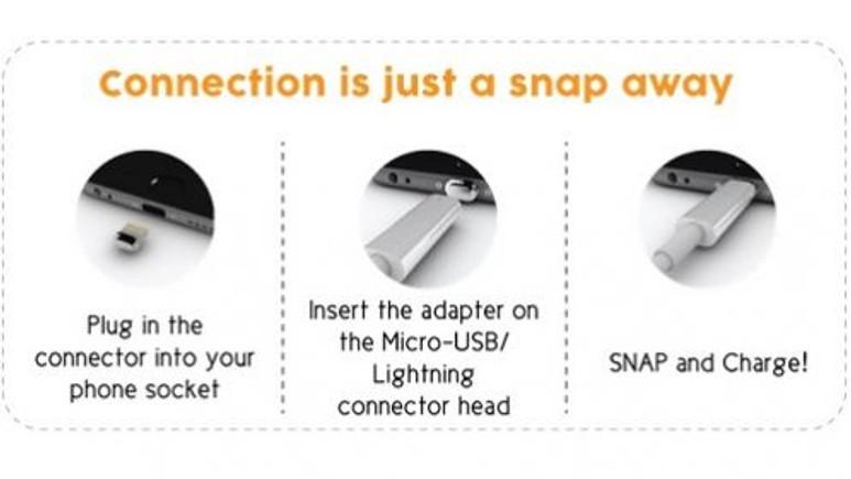 ''Znaps'' ile iPhone şarj kabloları kırılmayacak!