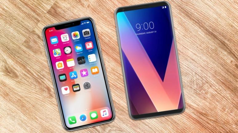 iPhone X ile LG V30 karşı karşıya!