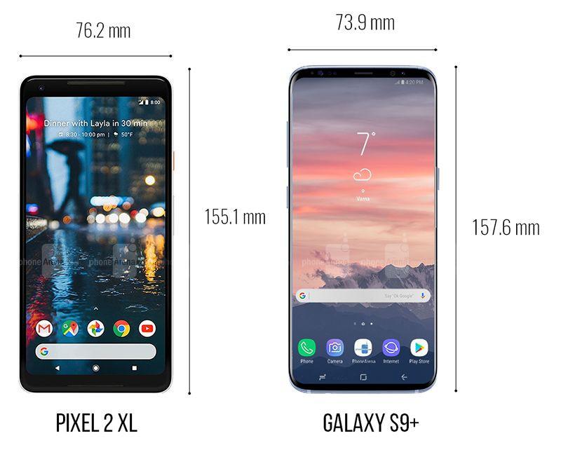 Galaxy S9, iPhone X ve Pixel 2 XL boyut karşılaştırması! - Page 2