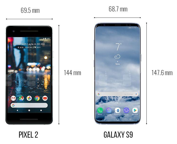 Galaxy S9, iPhone X ve Pixel 2 XL boyut karşılaştırması! - Page 3