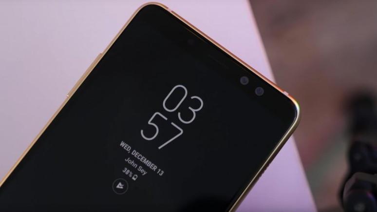 Çift ön kameralı ve çerçevesiz ekranlı Galaxy A8 (2018) tanıtıldı!