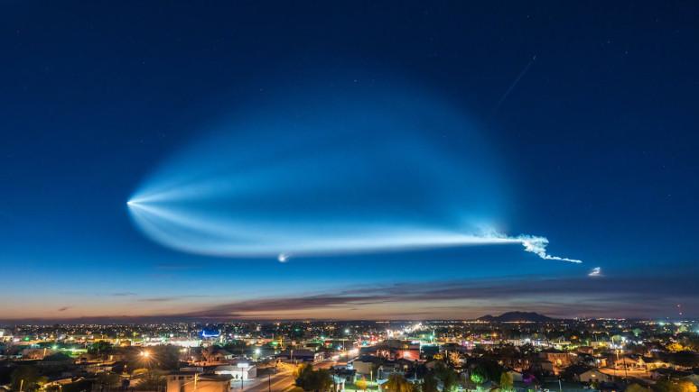 SpaceX'in Falcon 9 roketine bir de böyle bakın