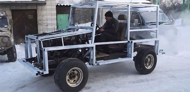 Lada aracını Lamborghini'ye çevirdi kaportası tamamen buzdan - Page 2