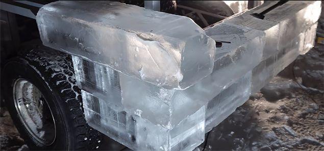 Lada aracını Lamborghini'ye çevirdi kaportası tamamen buzdan - Page 4