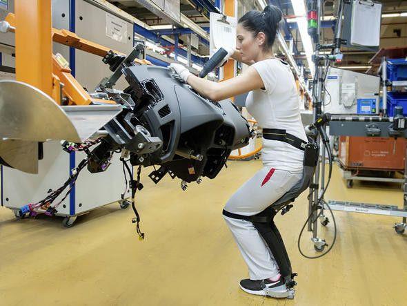 Audi otomobilleri iskelet robotlarla yapıyor - Page 1