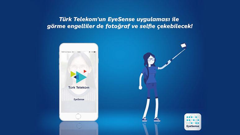 Görme engelliler de selfie çekecek