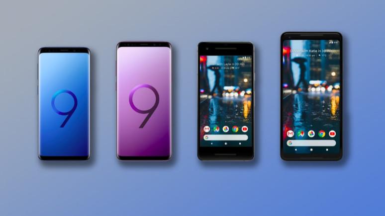 Samsung Galaxy S9 ve S9 + , Google Pixel 2 ve 2 XL