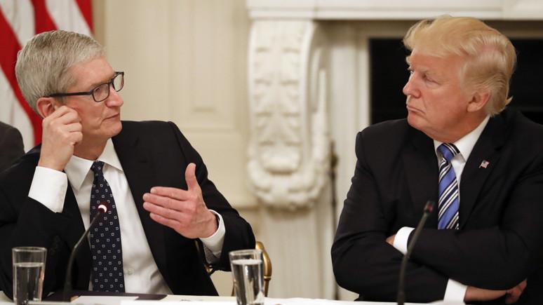 Tim Cook ile Donald Trump Çin'i konuştu