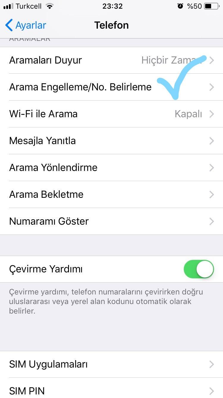 arama engelleme iphone 6s