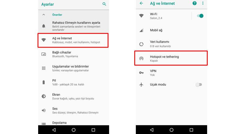 Android telefonlarda internet paylaşımı nasıl yapılır? 1