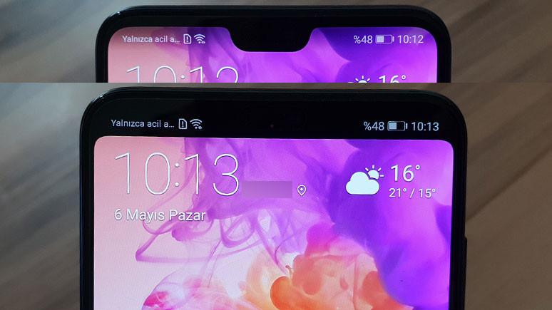 Huawei P20 Pro'da çentik nasıl kapatılır?