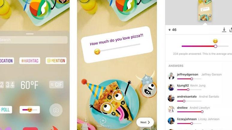 Instagram Hikayeler'e emoji anket özelliği eklendi