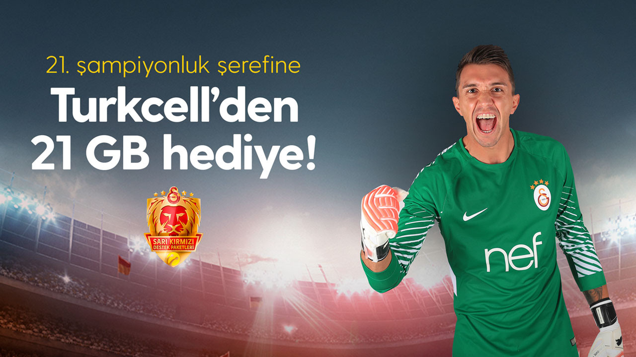 Turkcell'den Galatasaray taraftarına 21 GB internet hediyesi