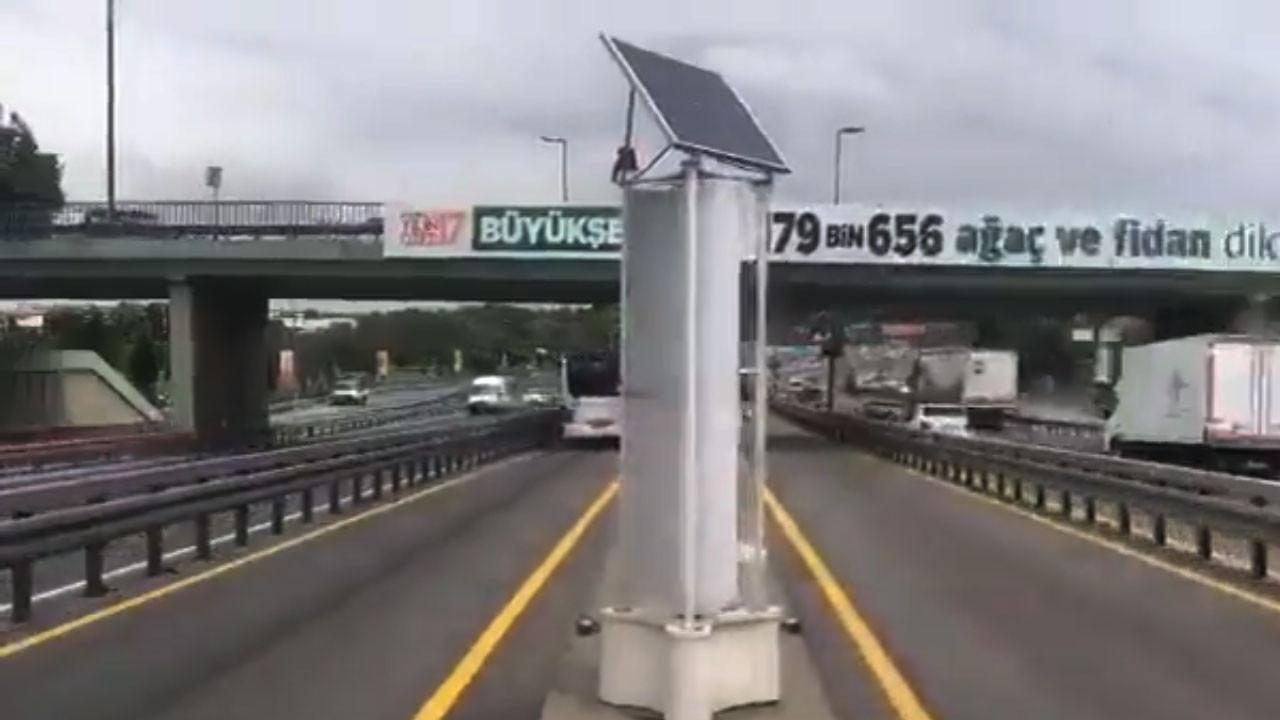 Metrobüs rüzgarından elektrik üretiliyor - Video