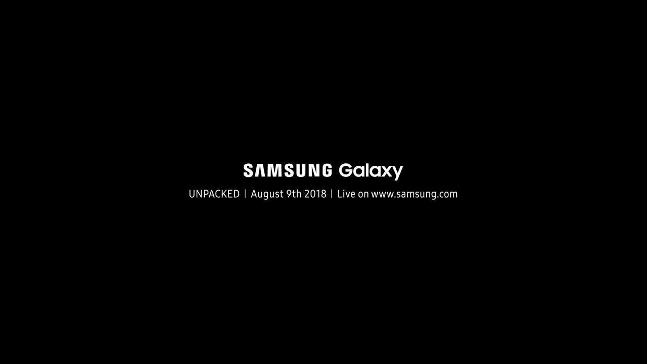 Samsung Galaxy Note 9 etkinliği duyuruldu