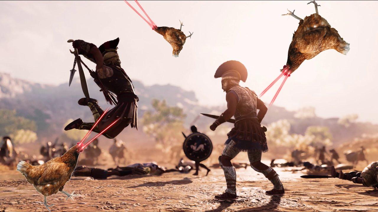 AC: Odyssey oyuncularının başı tavuklarla dertte!