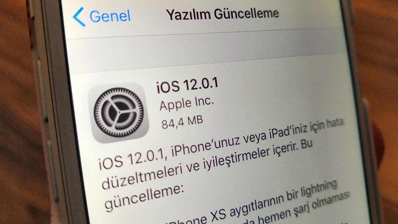 iOS 12.0.1 çıktı! Hemen indir!