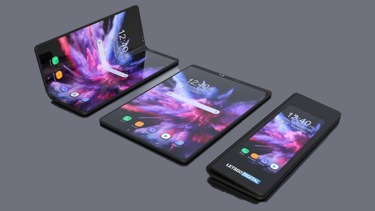 Katlanabilir Samsung telefon görüntülendi