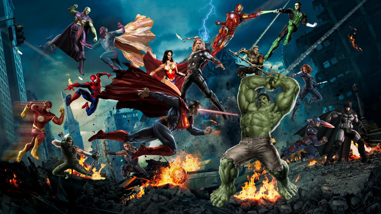 Marvel ve DC birbirine girdi!