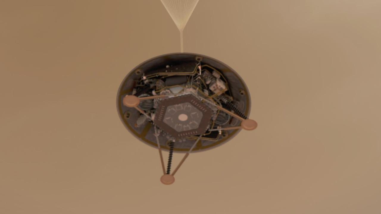 InSight Mars yüzeyine depremölçer indirdi!