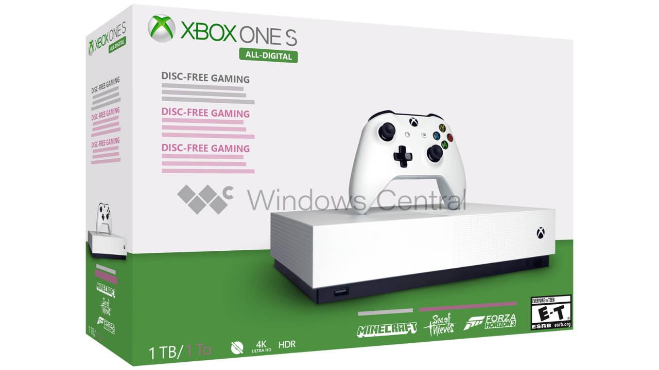 Disksiz Xbox One S tasarımı ve fiyatı ortaya çıktı!