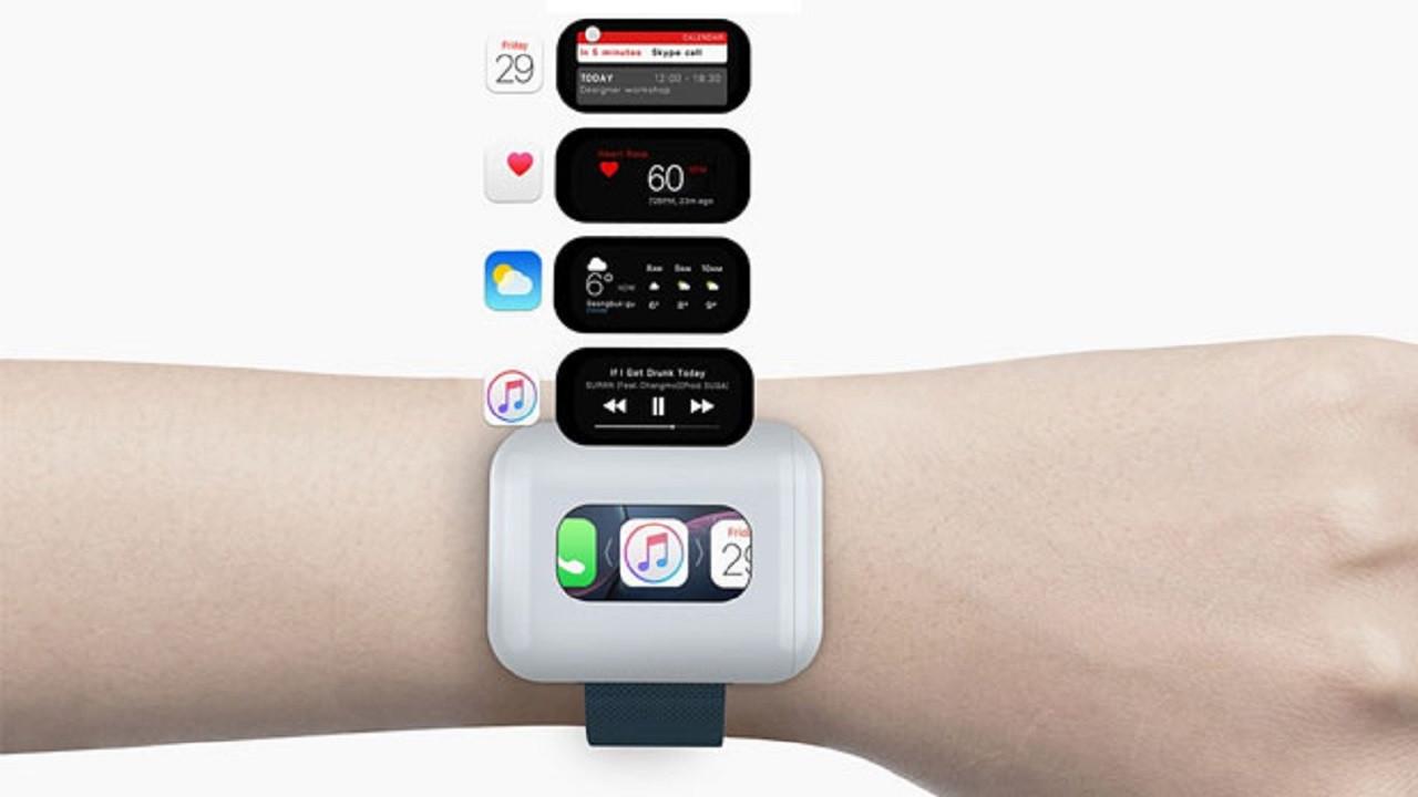 Apple Airpods'u akıllı saaate dönüştüren tasarım