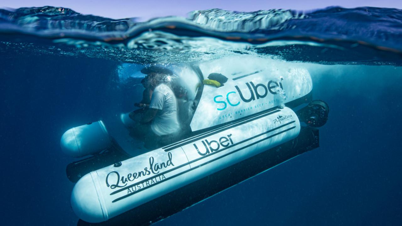Uber'den denizaltı taksi hizmeti; scUber