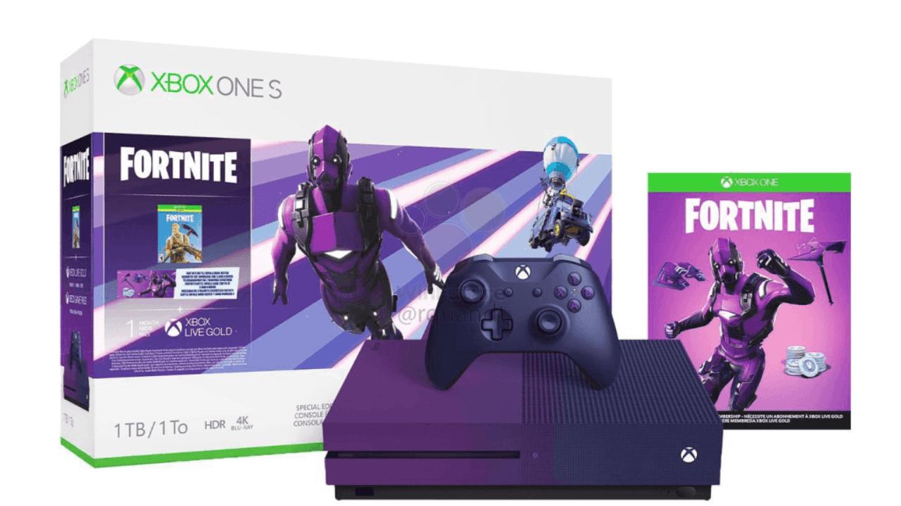 Mor renkli Xbox One S Fortnite Limited Edition sızdı!