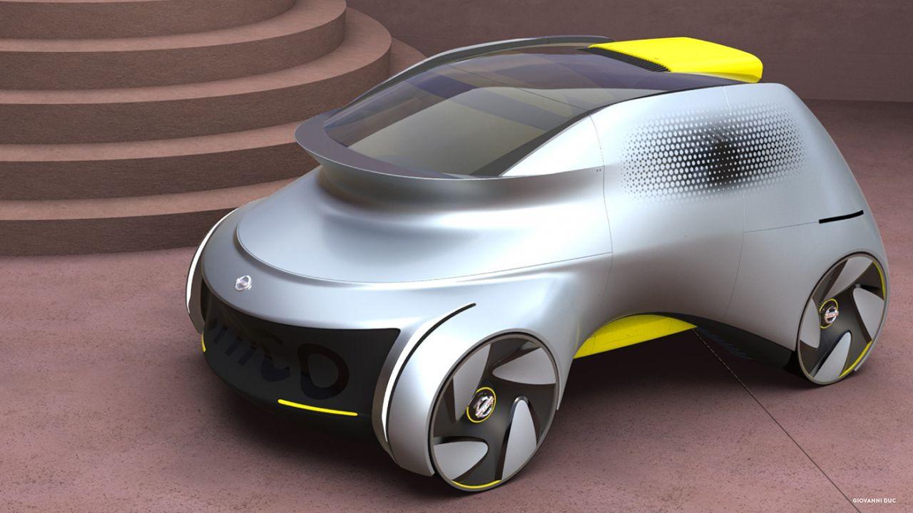 Sürücüsüz okul servisi konsepti: Nissan Chico - Page 1