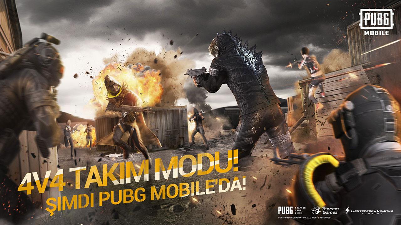 PUBG Mobile'a 4V4 takım savaş modu geldi