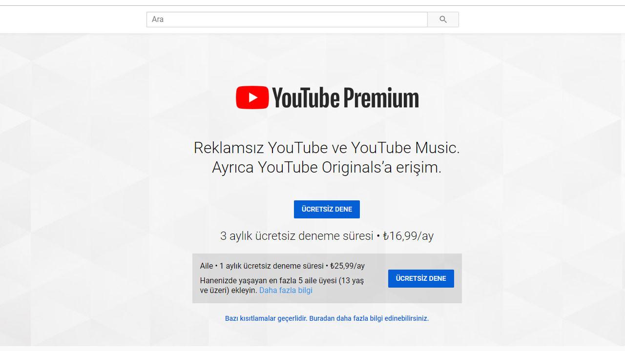 YouTube Premium Türkiye'de kullanıma açıldı!