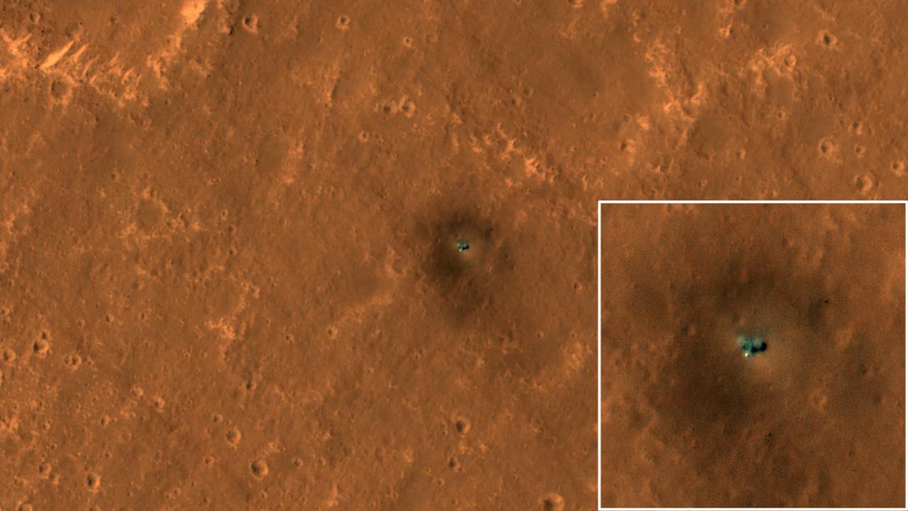 NASA Mars'ın yüzeyindeki araçları uzaydan görüntüledi!