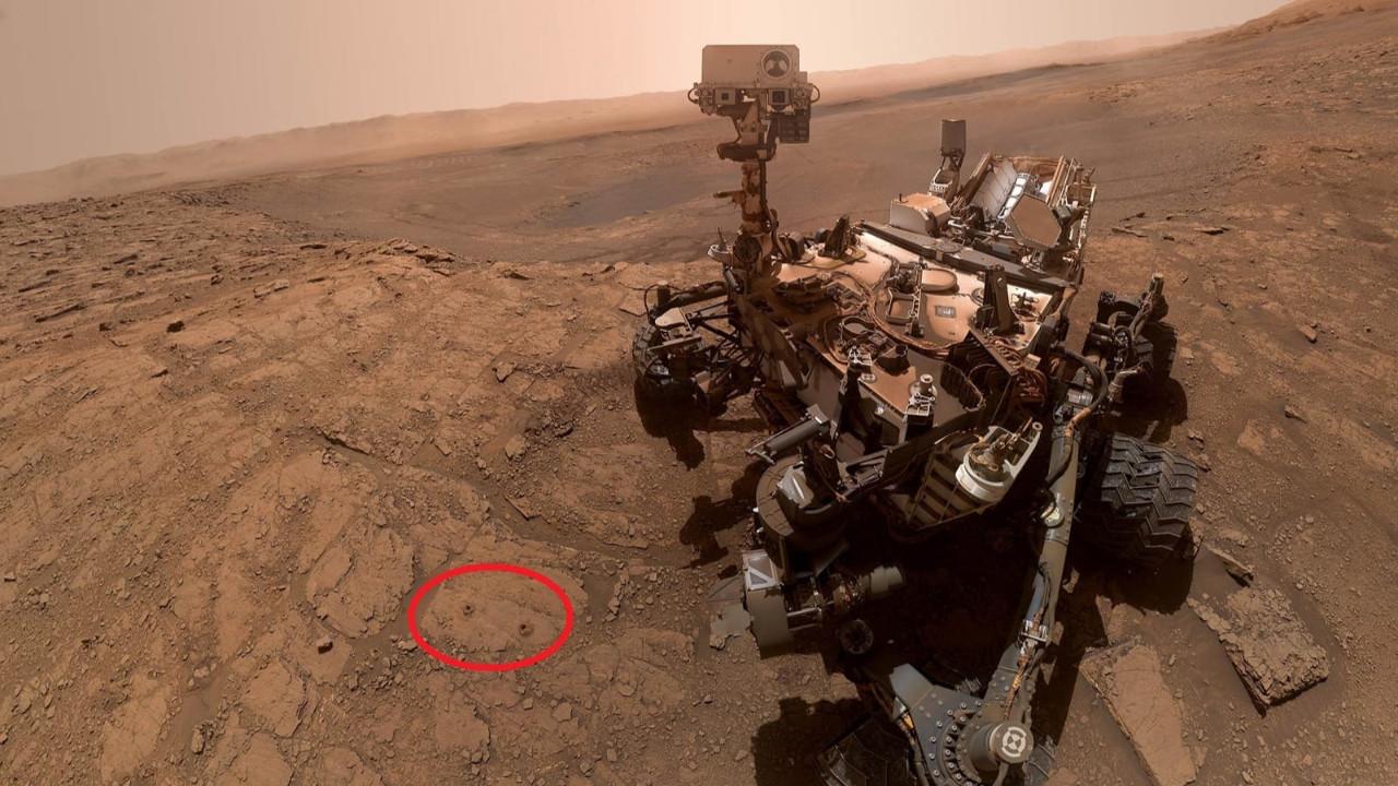 İşte Mars gezegenindeki ilk selfie!