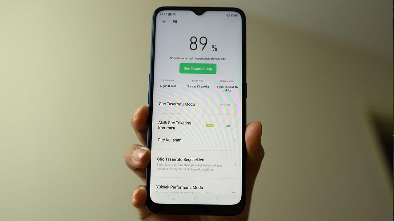 Sıla'nın telefonunun pil ömrü nasıl: OPPO A9 2020