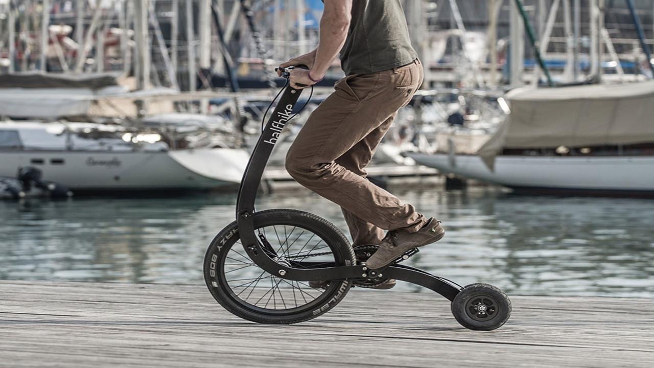 Scooter görünümlü bisiklet: Halfbike 3 (video)
