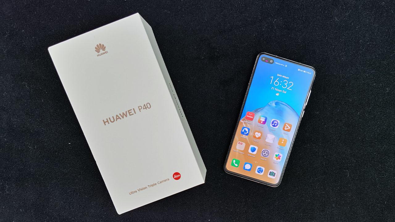 5G destekli Huawei P40 kutusundan çıkıyor (video)