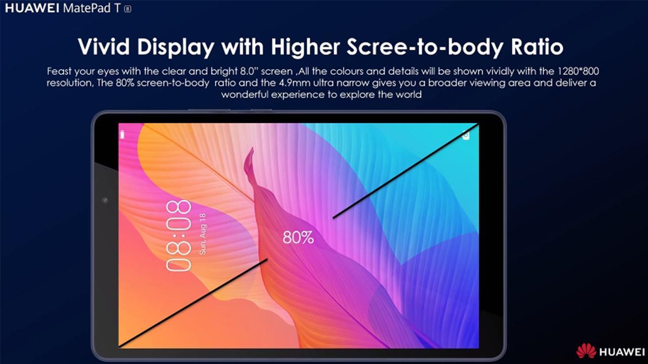 Huawei'den 700 TL'lik tablet! MatePad T8 tanıtıldı
