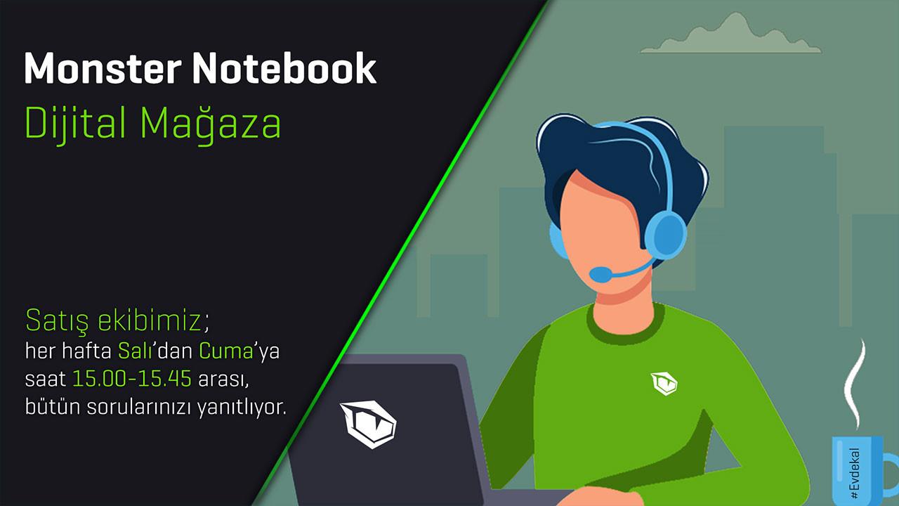 Monster Notebook'tan dijital mağaza