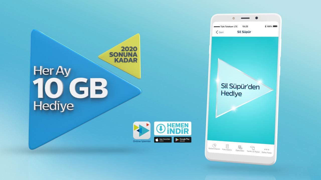 10gb Mobile Internet Gift To Turk Telekom Subscribers The Teknolojiok