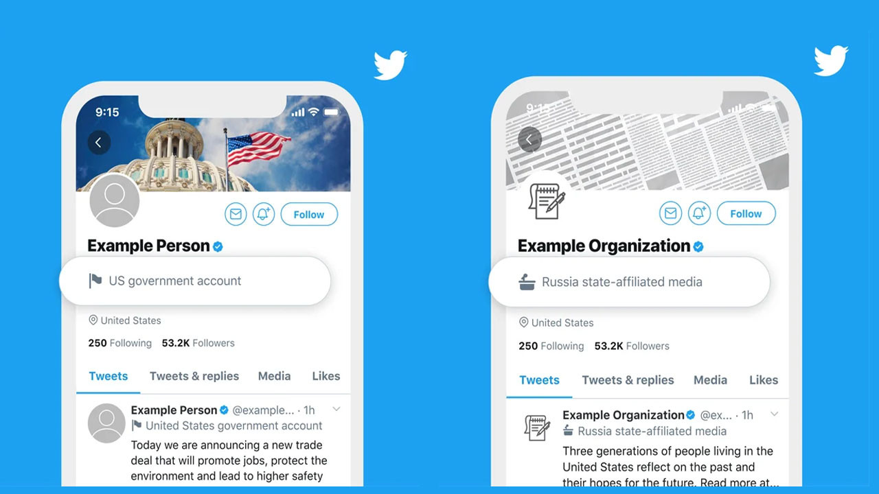 Twitter devlet destekli hesaplara etiket verecek