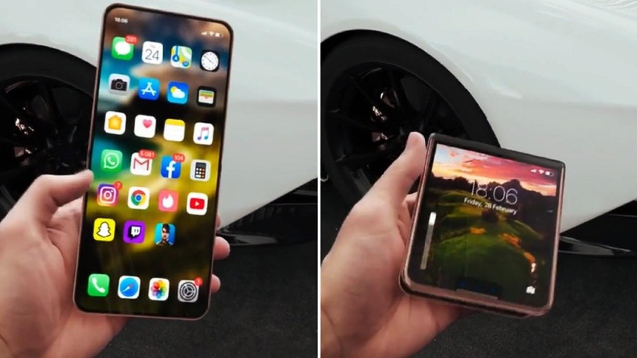 Karşınıza katlanabilir ilk iPhone modeli!