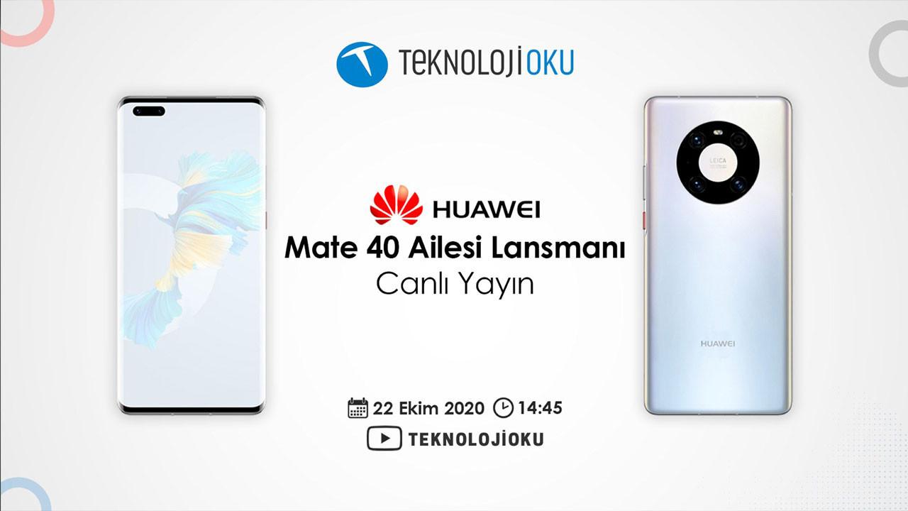Huawei Mate 40 ailesini canlı yayında değerlendireceğiz!