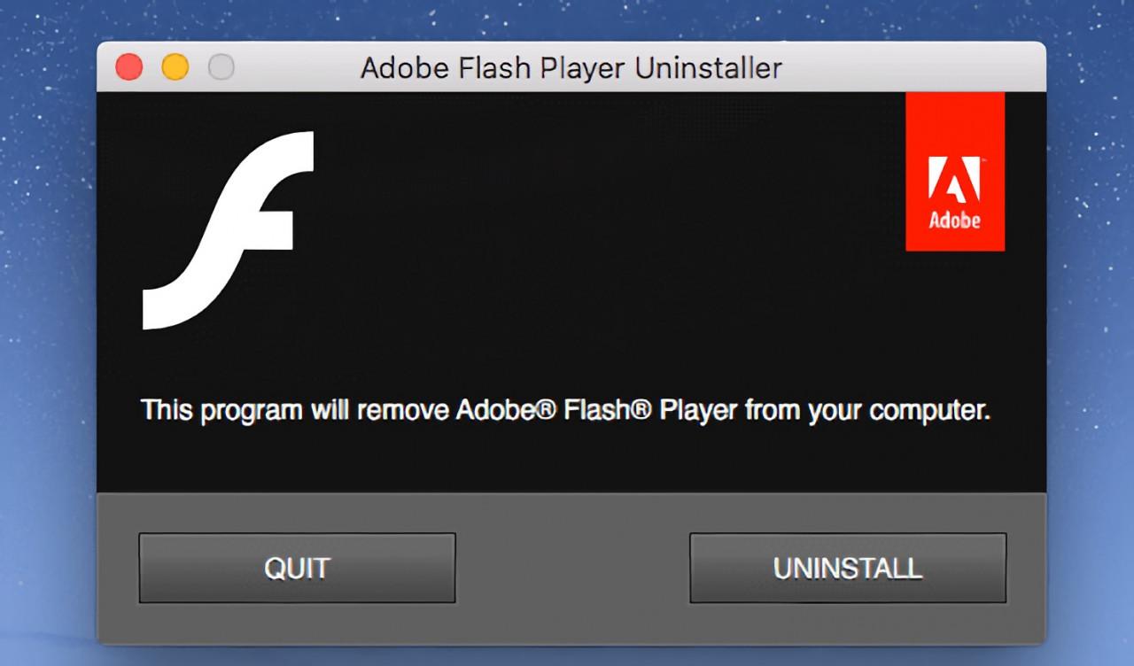 Adobe Flash Player kaldırma